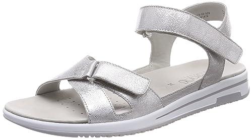 Caprice 28610 Sandali con Cinturino alla Caviglia Donna Argento Silver