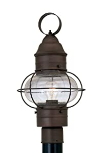 Designers Fountain 1766-RT Nantucket Post Lanterns, Rustique