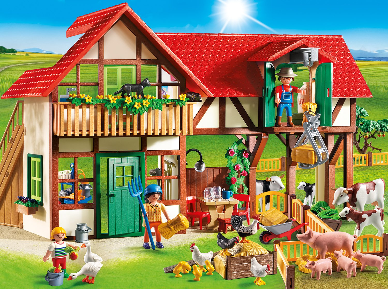 Amazon.com: Playmobil Large Farm: Toys  for Playmobil Farmhouse 110ylc