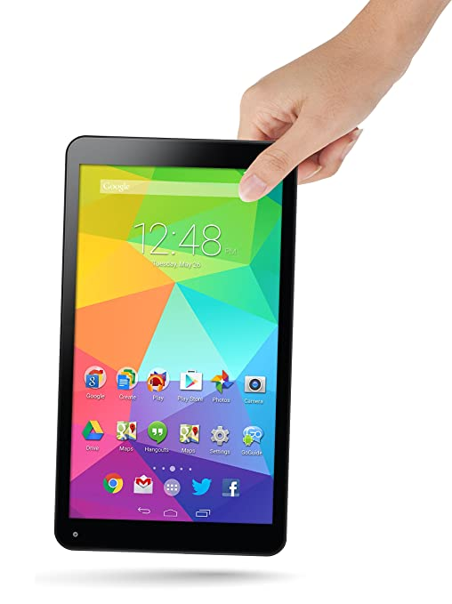 GoTab GBT10 10-Inch Tablet PC (Black) - (ARM A9 Quad Processor 5 2 GHz, 16  GB Memory, Android 4 4 KitKat)