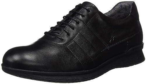 Fluchos- Retail ES Spain Tauro, Zapatos de Cordones Oxford para Hombre, Negro (Black), 45 EU