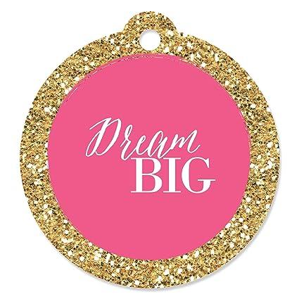 f1caa41ed981 Amazon.com: Dream Big - Graduation Party Favor Gift Tags (Set of 20 ...