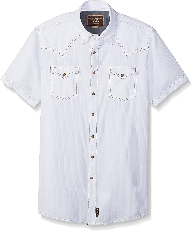 Wrangler Hombre MVR28BT Camisa con Botones - Blanco - 2XT: Amazon.es: Ropa y accesorios