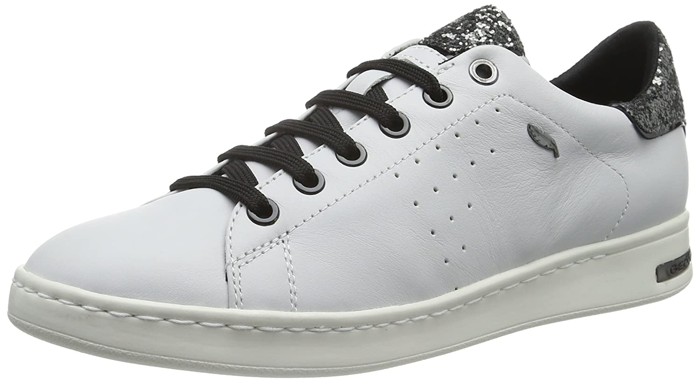 Geox D Jaysen A, Hauszapatos para mujer blancoo (blancoo plata C0007)