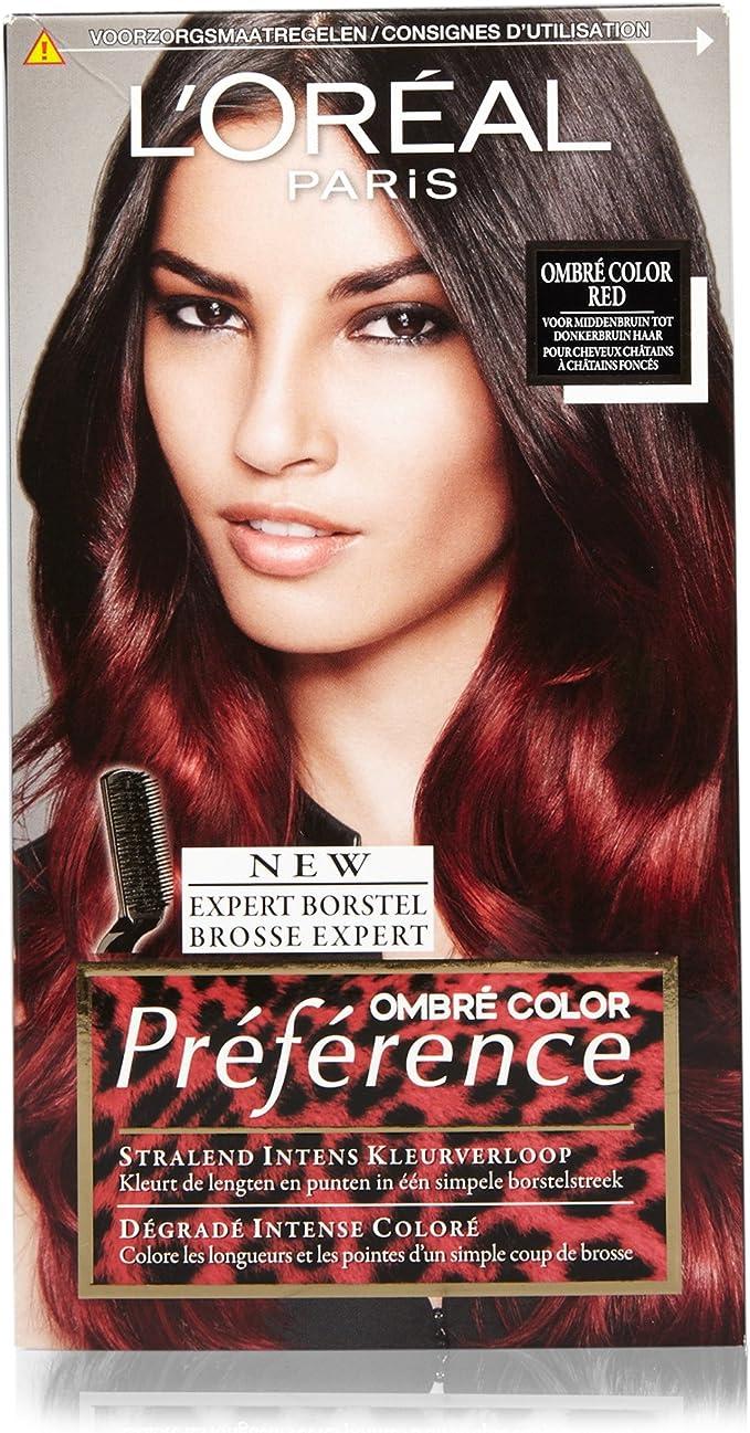 LOréal Paris Préférence 6.66 Ombre Color Red coloración del cabello Rojo - Coloración del cabello (Rojo, Ombre Color Red, Bélgica, 55 mm, 93 mm, 171 ...