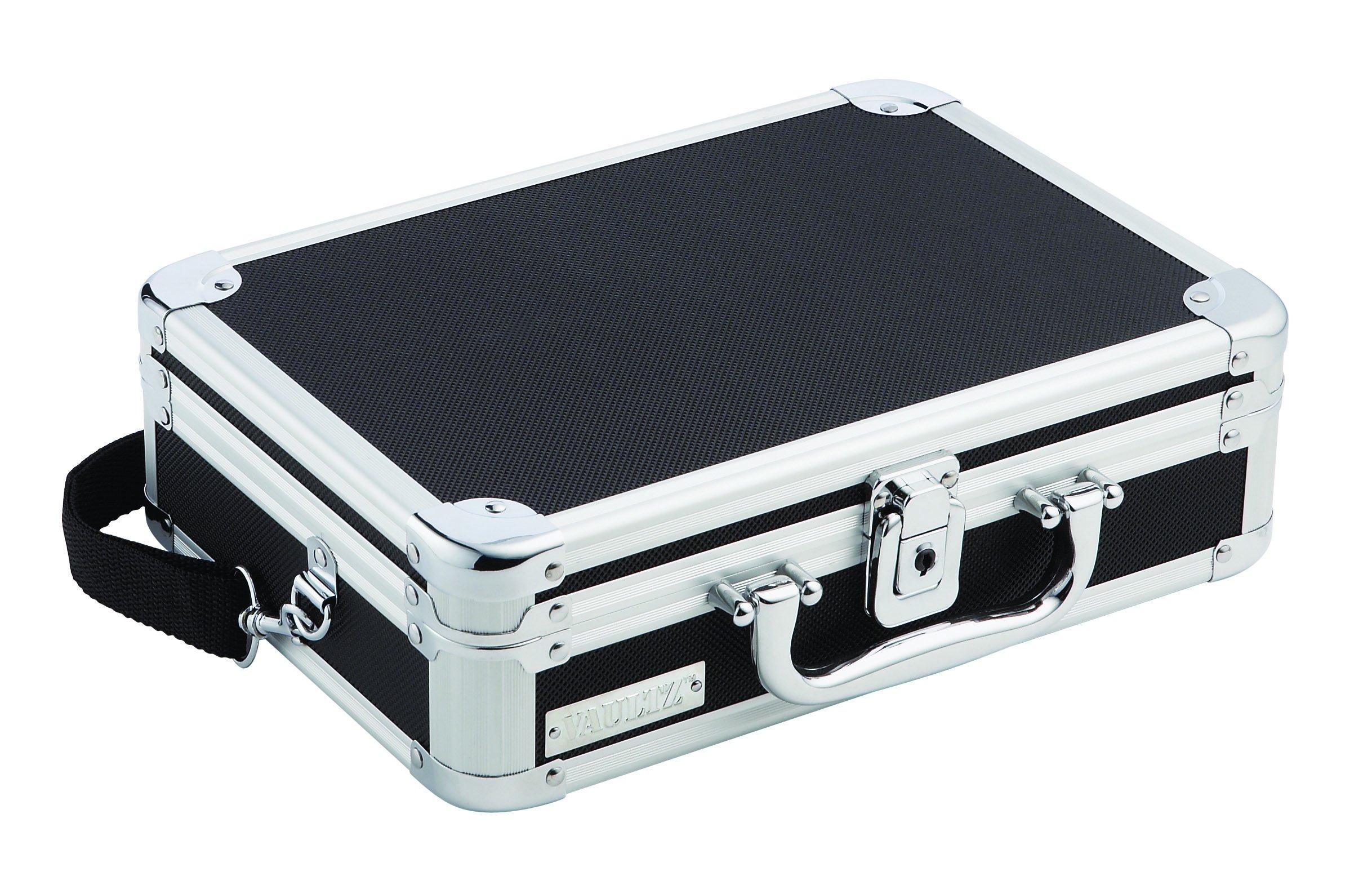 Vaultz Locking DVD Player Case 11.875 x 8.875 x 3.625 Inches, Black (VZ01264)