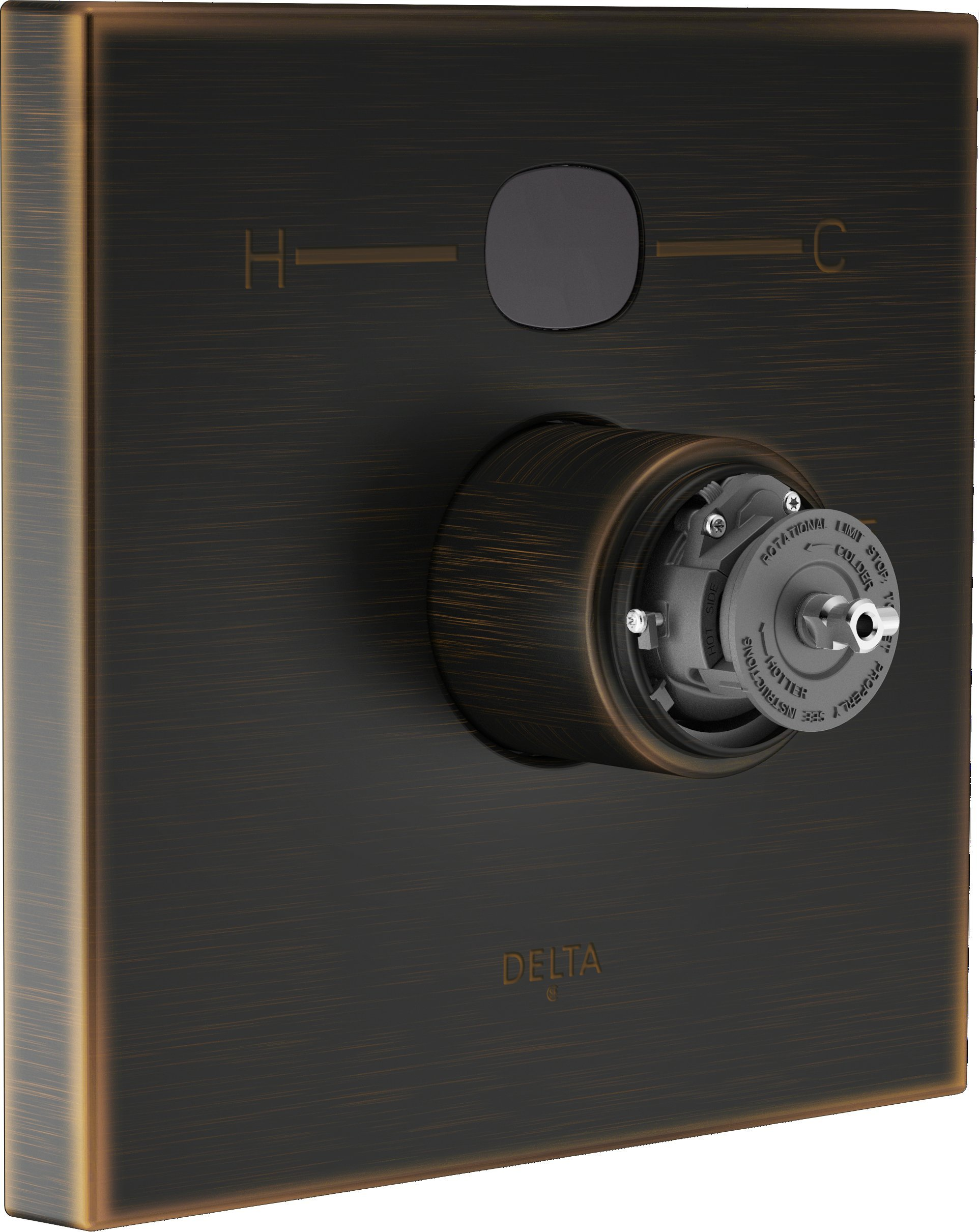 Delta T14001-RBT2O-LHP Angular Modern Temp2O Valve Trim without Handle, Venetian Bronze by DELTA FAUCET
