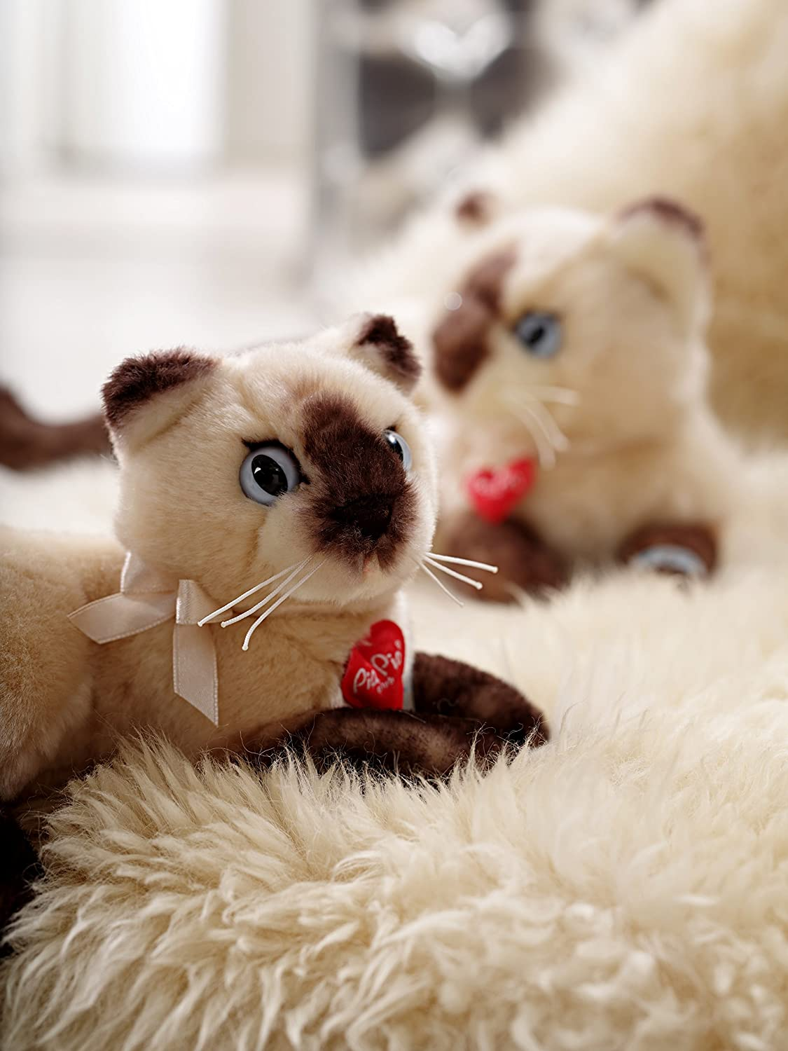 Amazon.com: Heinrich Bauer Pia Pia Club 17071 Siamese Cat Lying Down 30 cm by Bauer: Toys & Games