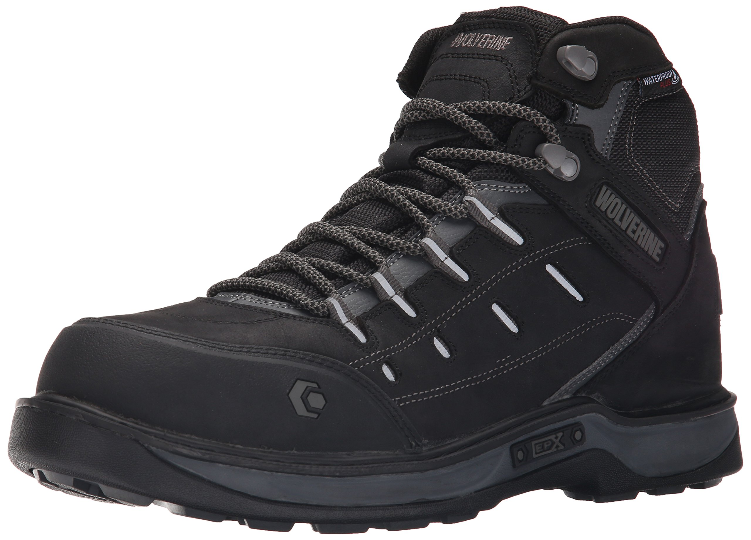 Wolverine Men's Edge LX Nano Toe Work Boot, Black/Grey, 11.5 M US by Wolverine (Image #1)