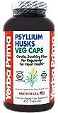 Yerba Prima Psyllium Husks Veg Caps, 400 Capsules (625mg) - Vegan, Non-GMO, Gluten Free, Colon Cleanser, Daily Fiber…