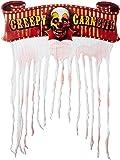 Amscan International 240148 Creepy Carnival Doorway Curtain Cardboard Sign With Gauze, 96.5 x 137 cm