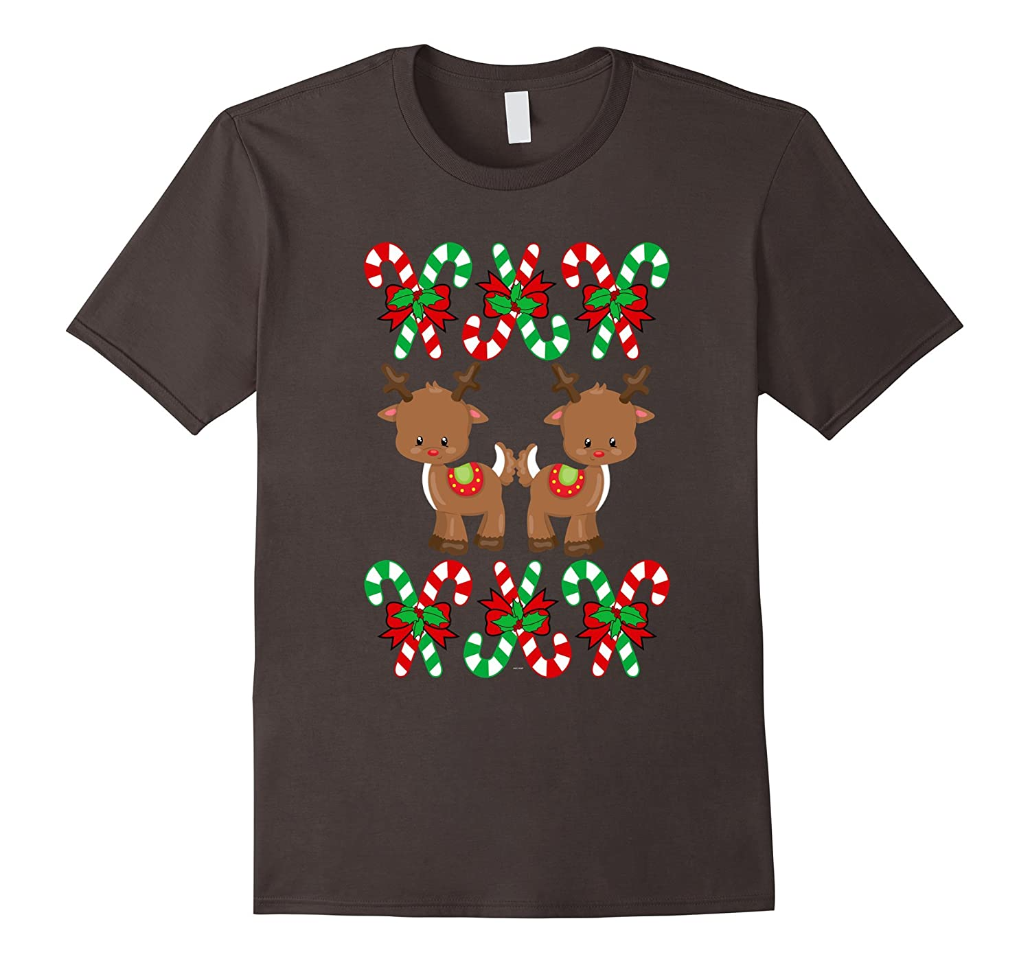 Reindeer Funny ugly christmas sweater look gift t shirt