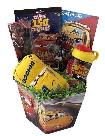 Image Unavailable  sc 1 st  Amazon.com & Amazon.com: Prefilled Cars McQueen Premade Gift Basket Boys Pretend ...