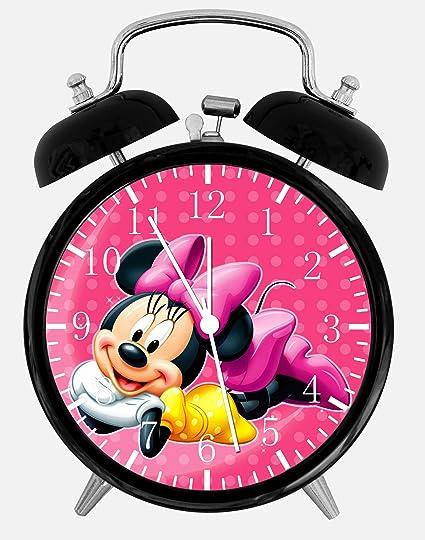 Disney Minnie Mouse Alarm Desk Clock 3.75u0026quot; Home Or Office Decor E123  Nice ...