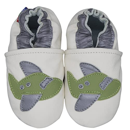 carozoo strawberry cream 5-6y soft sole leather kid shoes
