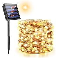 Maxsure Guirnalda Luces Exterior Solar, Luces Solares Guirnaldas 12 Metros 100 LED, con 8 Modos de Luz Decoración para…