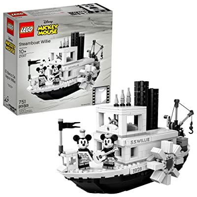LEGO Ideas 21317 Disney Steamboat Willie Building Kit (751 Pieces): Toys & Games