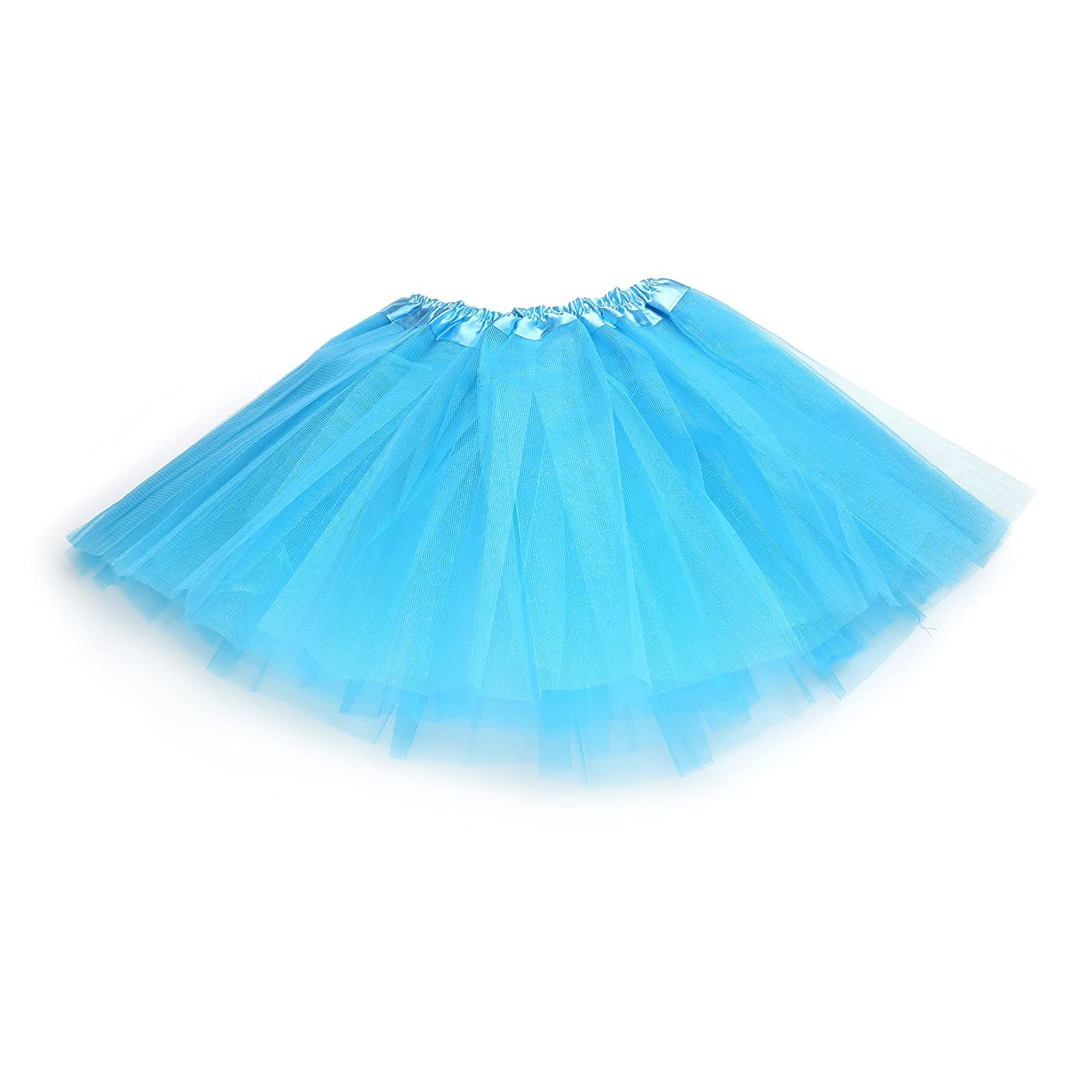Anleolife 12'' Girl Tutu Skirt Party Tutus Pure Color