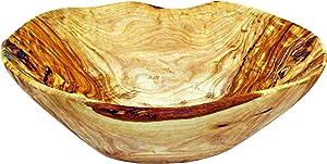 NATURES essentials Olive Wood Decorative Bowl, Large