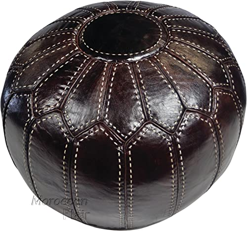 Moroccan Flair Leather Ottoman