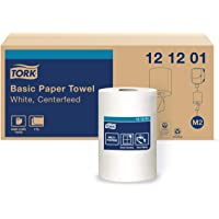 """Tork Advanced 121201 Soft Centerfeed Hand Towel, 2-Ply, 9"""" Width x 11.8"""" Length, White (Case of 6 Rolls, 600 per Roll, 3…"""