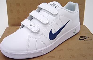 detailed look 1014d 24657 Nike Mens Trainers Size UK 12 EU 47 White Leather Court Casual Velcro
