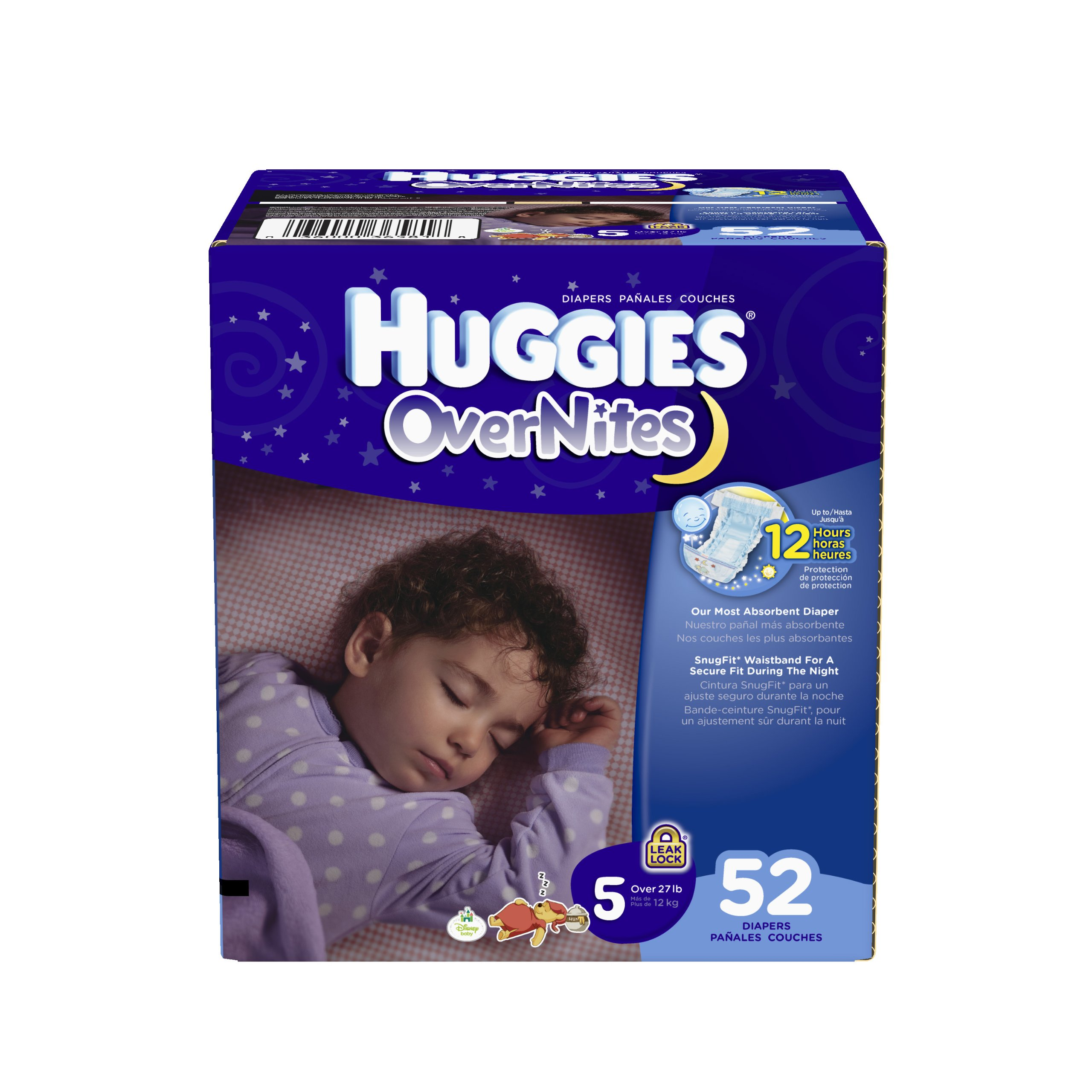 Huggies OverNites Diapers, Size 5, Big Pack, 52 Count by HUGGIES