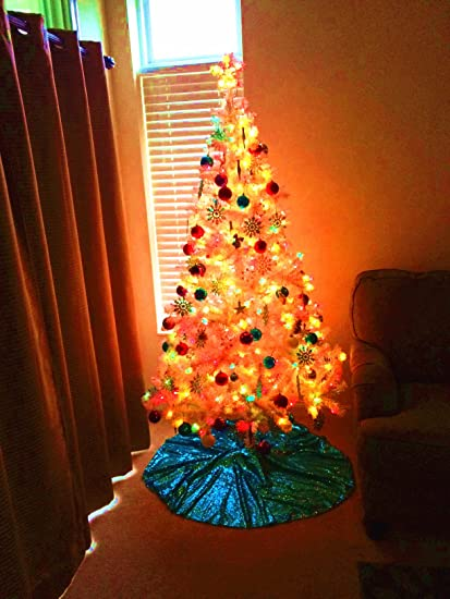 shinybeauty turquoise christmas tree skirt 48 inchsequin nativity tree stand cover