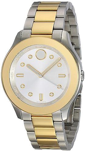 MOVADO Bold Reloj DE Mujer Cuarzo Suizo Correa DE Acero Doble Tono 3600418: Amazon.es: Relojes