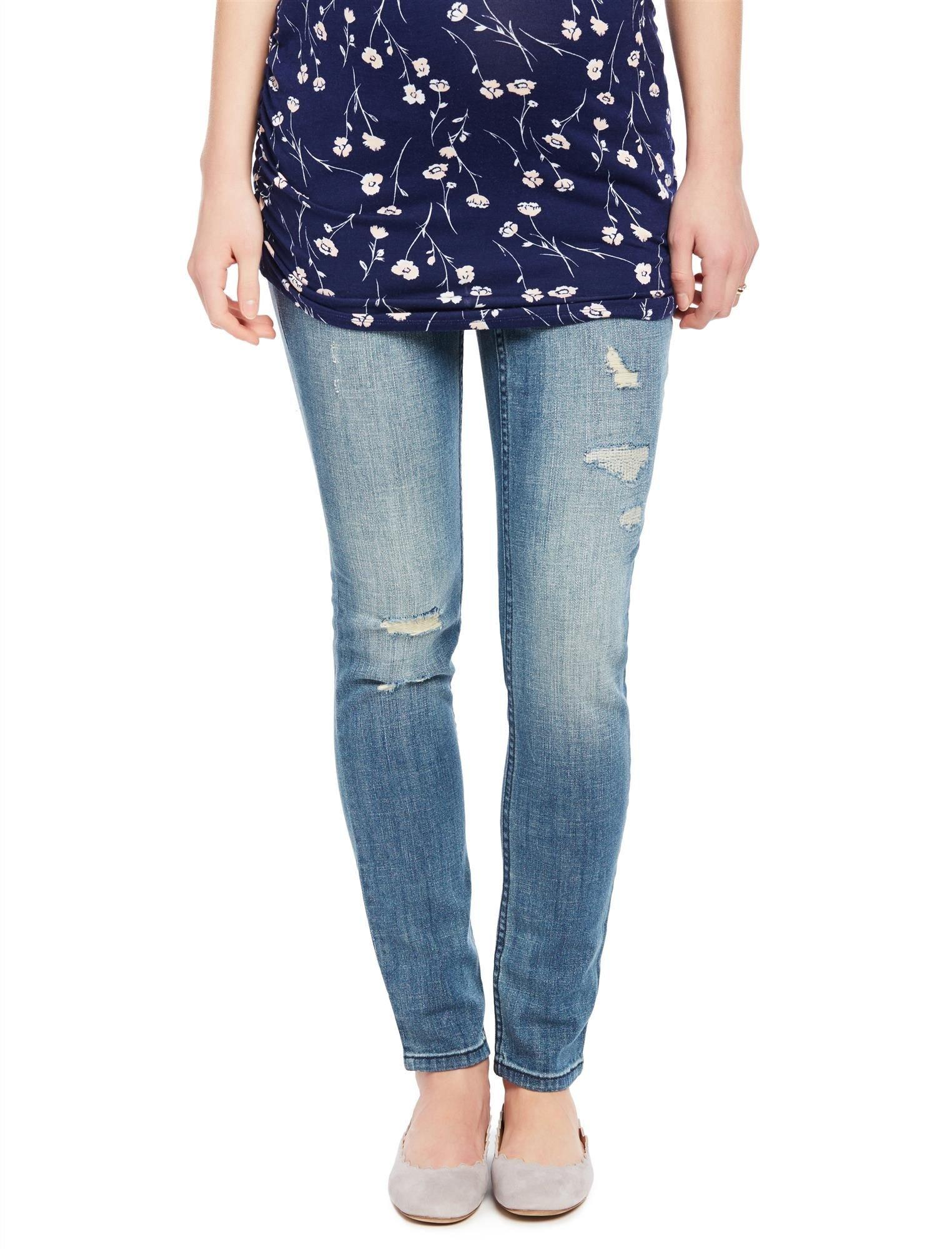 Motherhood Indigo Blue Premium Secret Fit Belly Skinny Leg Maternity Jeans