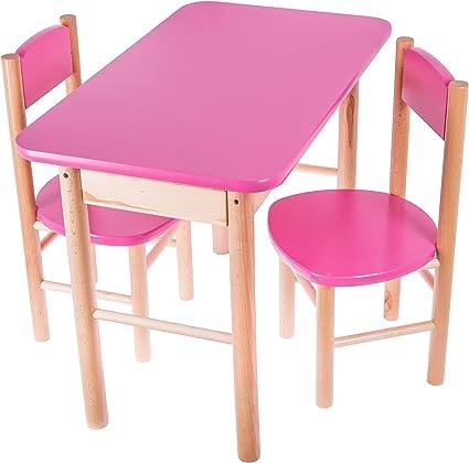 Set Di Tavolo E Sedie Per Bambini Ragazzi Set Tavolo In Legno Mobili Tavolo Lunghezza 68 X Larghezza 39 X Altezza 50 Cm Amazon It Casa E Cucina