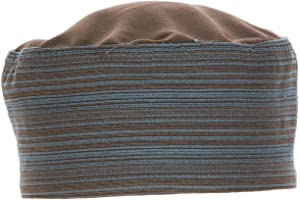 Chef Works Unisex Brooklyn Cool Vent Chef Beanie, Blue/Chocolate, One Size