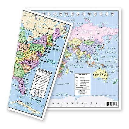 Amazon.com : US and World Desk Map (13\