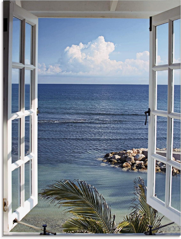 Wand-Bild Kunstdruck aus Acryl-Glas Hochformat 60x120 Steine Strand