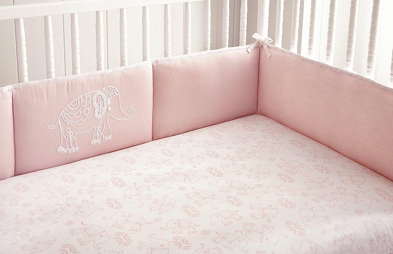 Levtex Home Baby Ely 4 Piece Crib Bumper Set, Pink 81tRGPsrYOL._SL1500_
