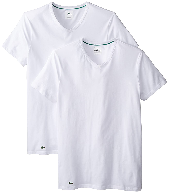 am besten wählen großartiges Aussehen Weltweit Versandkostenfrei Lacoste Men's 2-Pack Colours Cotton Stretch V-Neck T-Shirt