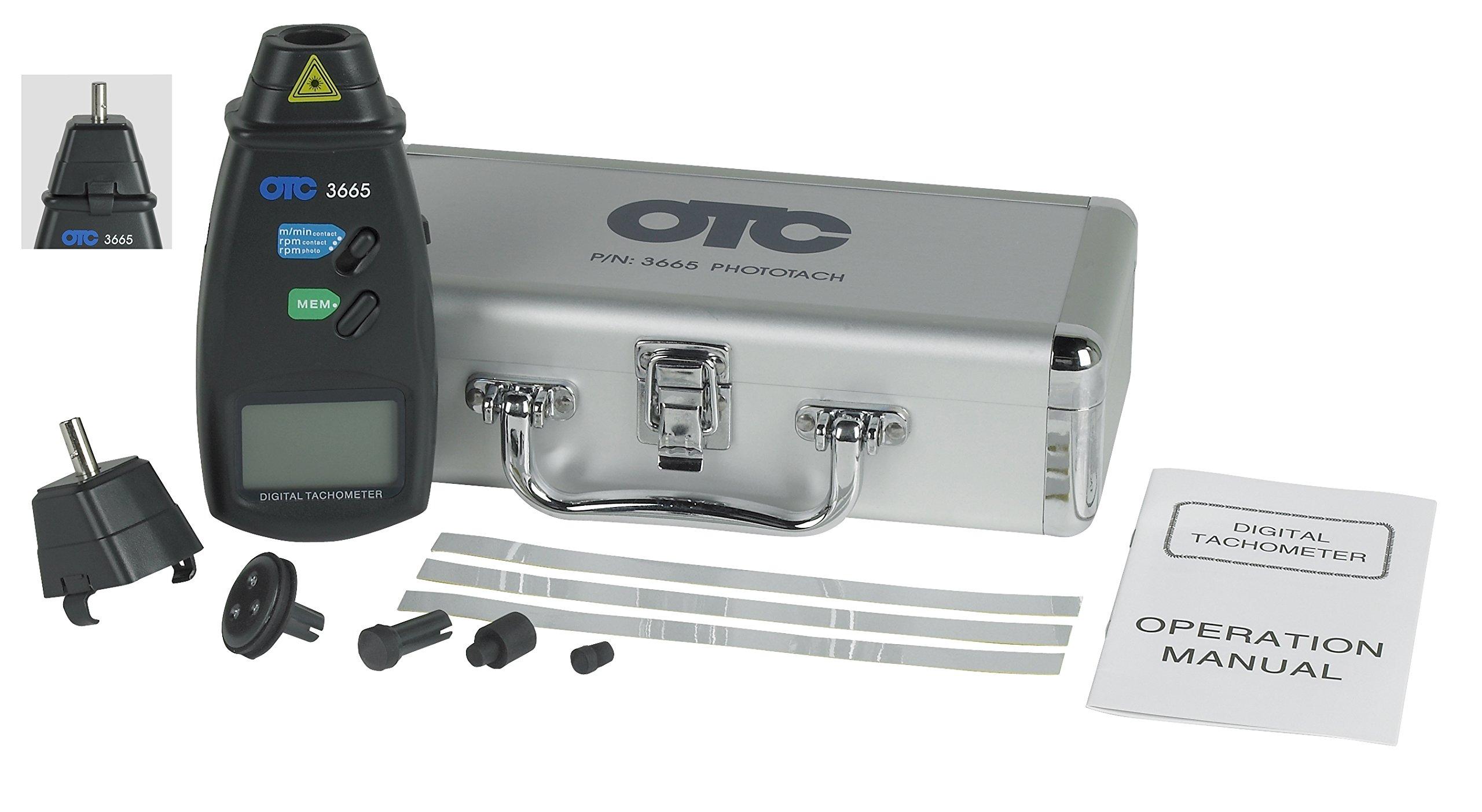 OTC 3665 Phototach Contact/Non-Contact Tachometer by OTC