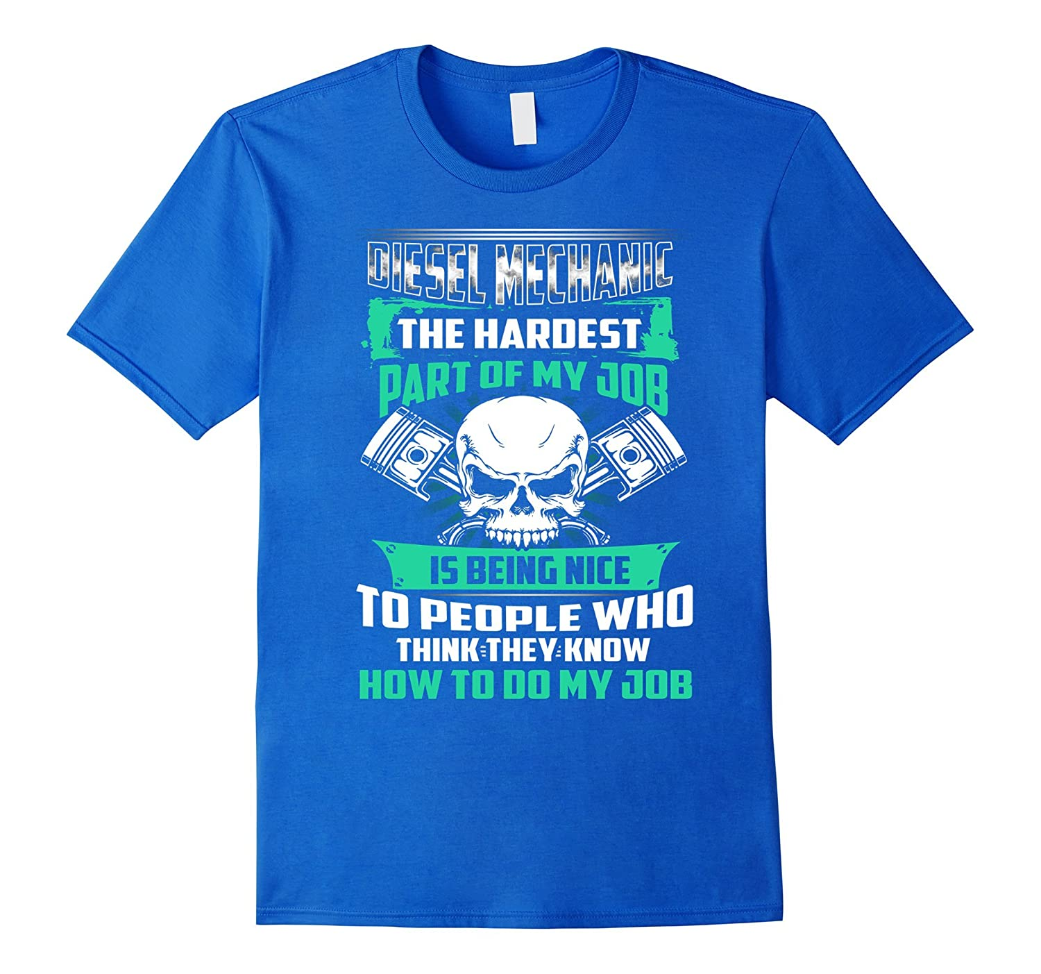 Nice Funny Diesel Mechanic Tee Shirt With Skull Graphic Gift-FL