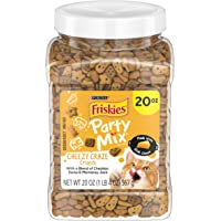 Purina Friskies Made in USA Facilities Cat Treats, Party Mix Cheezy Craze Crunch - 20 oz. Canister