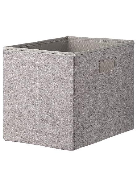 taille 40 3b0c2 ab0ff HEMA boîte de rangement - 19 x 28 x 22 cm - feutrine - gris ...