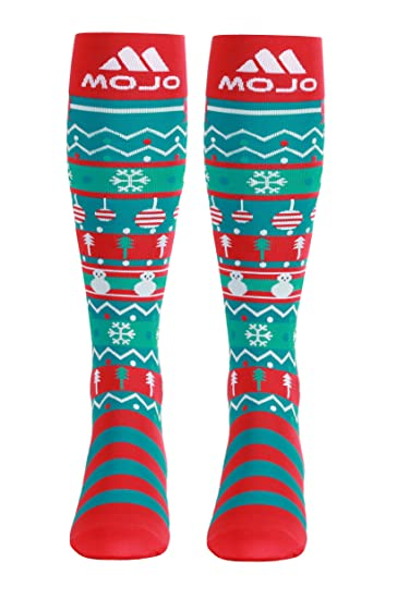 Christmas Compression Socks – Graduated Compression Stockings - Firm Support 20-30mmHg - Mojo Compression