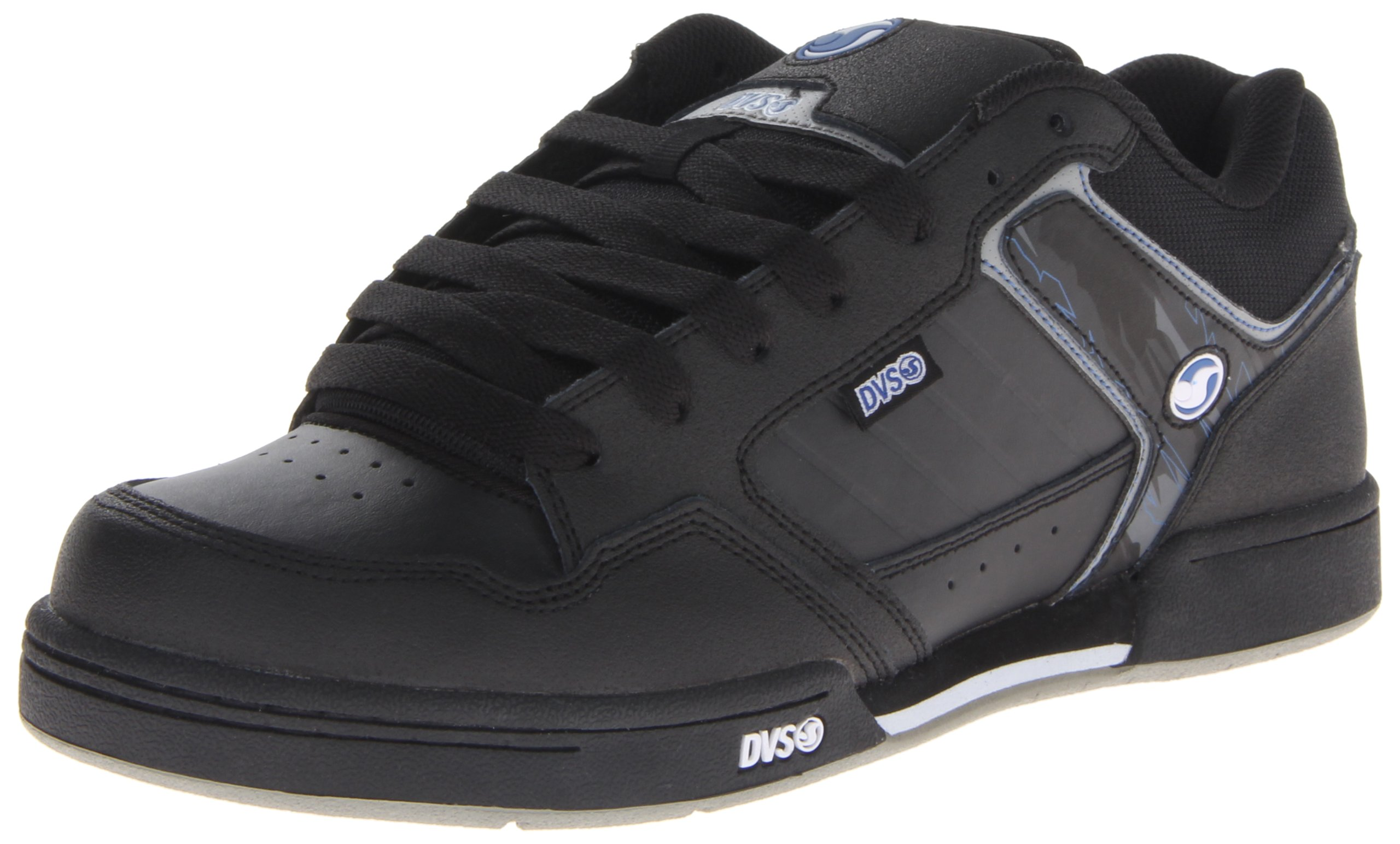 DVS Transom Skate Shoe,Black H.A. Leather,9.5 M US