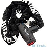 HFTEK® Chaînes Antivol 22mm x 100cm Chain Bike Lock pour Vélo / E-bike / Scooter / Moto (Verrouiller Head Taille: 22mm x 100cm)