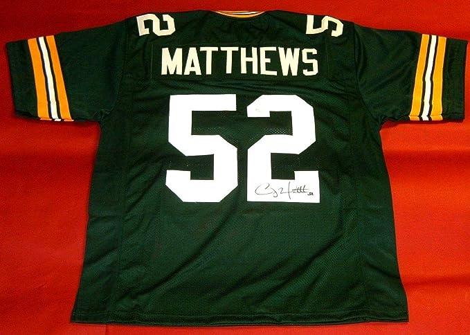Clay Matthews Autographed Green Bay Packers Jersey Jsa ...