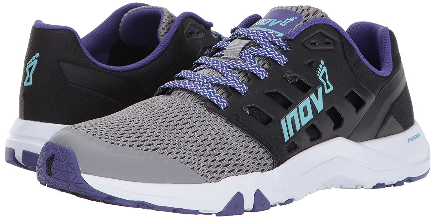 Inov-8 Women's All Train 215 Cross-Trainer Shoe B01N1T5EPS 10 D US|Grey/Black/Purple