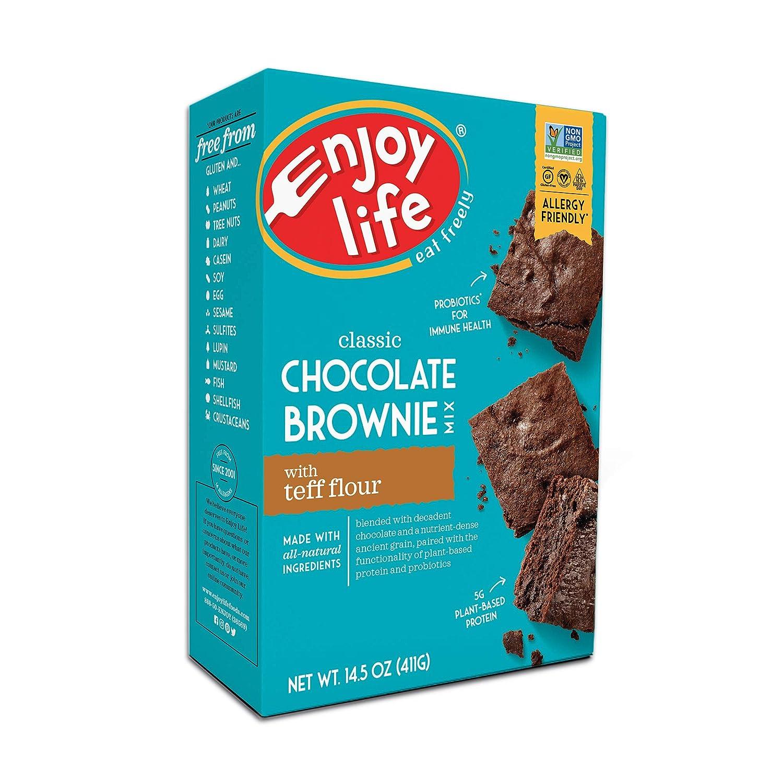 Enjoy Life Baking Mixes Soy Free Nut Free Gluten Free Dairy Free Non Gmo Vegan Brownie Mix 14 5 Ounce Box