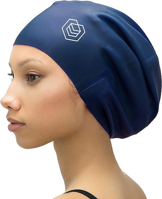 SOUL CAP XL – Gorro de Natación Extra Grande XL / Gorro de Ducha | Diseñado para Cabellos Largos, Rizados, Extensiones Capilares, Rastas, Trenzas y Afros | Hombre y Mujer | 100%