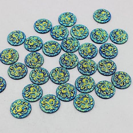 D DOLITY 50PCS Arte de Gemelos de Decoración de Tarjeta de Invitaciones Cuentas Para Scrapbooking DIY - Negro: Amazon.es: Juguetes y juegos