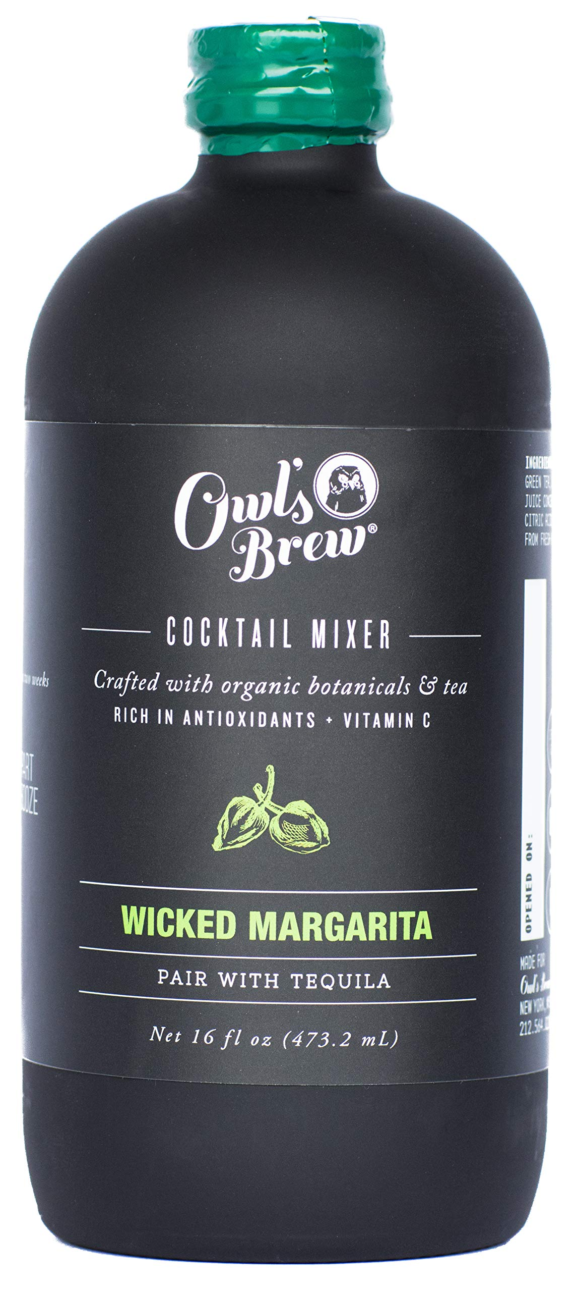Owl's Brew Wicked Margarita Cocktail Mixer, 16 Ounce Bottle