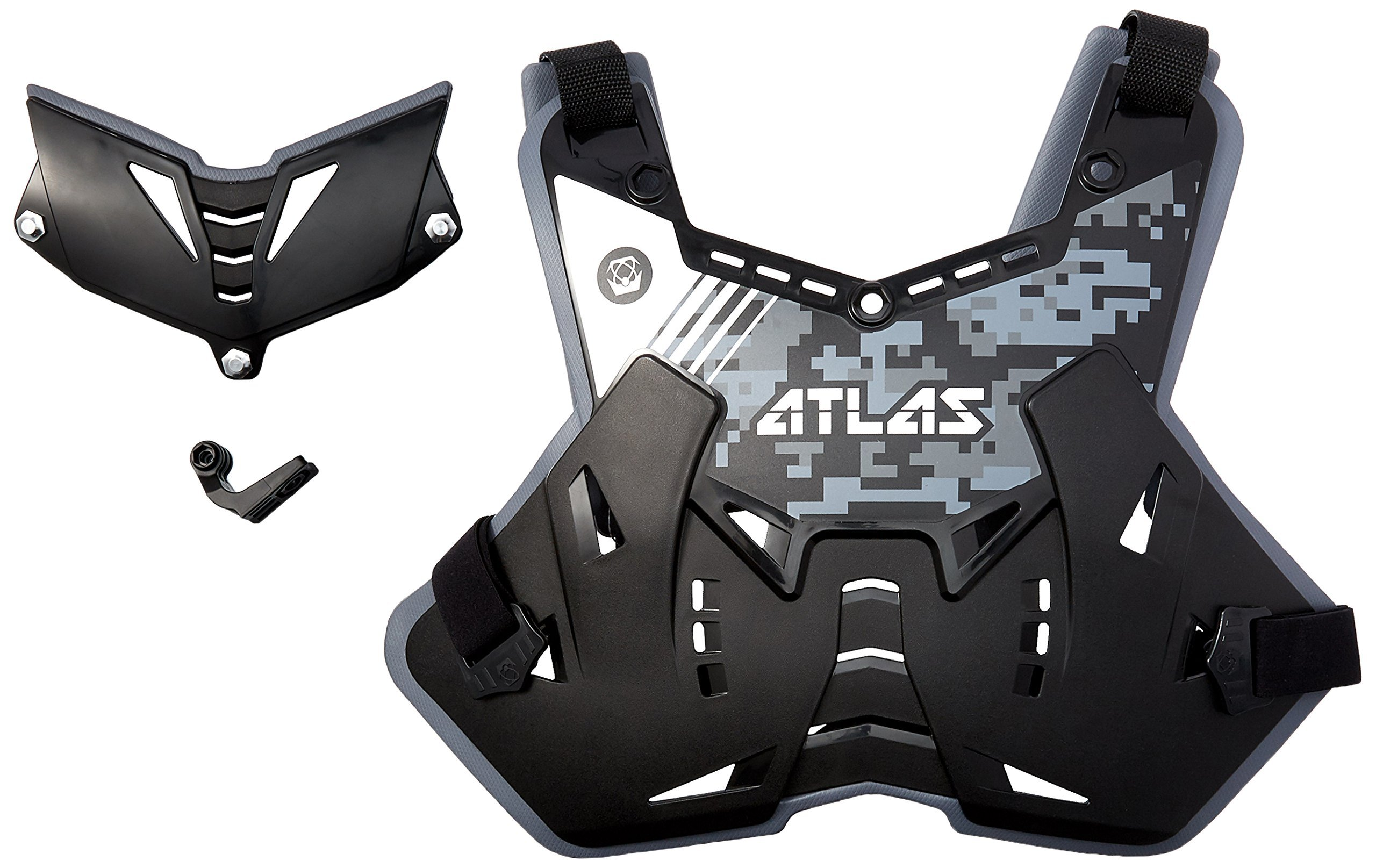 Atlas Brace Technologies Defender Lite Digital Stealth Chest Protector (Black, Adult)